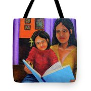 Reading With Mom Tote Bag