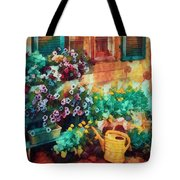 Ready To Water The Garden Oil Painting Tote Bag