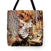 Real Cactus In An Actual Desert  Tote Bag