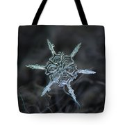 Real Snowflake Photo - The Shard Tote Bag by Alexey Kljatov