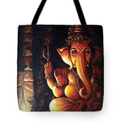 Portrait Of Lord Ganapathy Ganesha Tote Bag