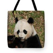 Really Great Panda Bear Chomping On A Fistful Of Bamboo Tote Bag