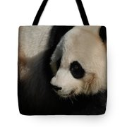 Really Up Close With The Face Of A Giant Panda Tote Bag