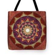 Realm Of The Desert Lotus Mandala Tote Bag
