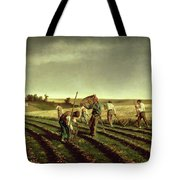 Reaping Sainfoin In Chambaudouin Tote Bag by Pierre Edmond Alexandre Hedouin