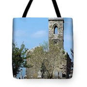 Rear View Fuerty Church And Cemetery Roscommon Ireland Tote Bag