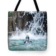 Rear View Penguin Tote Bag