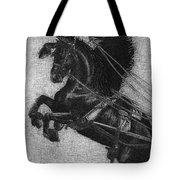 Rearing Horses Tote Bag
