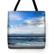 Receding Fog Seascape Tote Bag