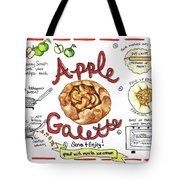 Recipe- Apple Galette Tote Bag by Diane Fujimoto