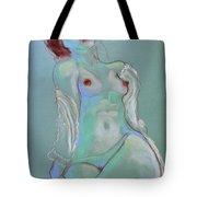 Reclining Figure With Coffee Cup Tote Bag