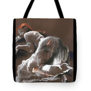 Reclining Figure With Skirt Tote Bag