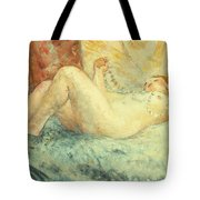 Reclining Nude Tote Bag by Henri Lebasque