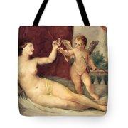 Reclining Venus With Cupid Tote Bag