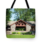 Recreation Shelter In Forest Park Tote Bag