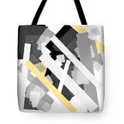 Rectangles With Yellow Accent Tote Bag