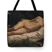 Recumbent Nymph Tote Bag by Anselm Feuerbach