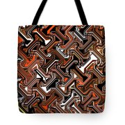 Recurring Pattern Abstract Tote Bag