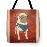 Recycled Pug Tote Bag