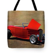 Red 1932 Ford Hot Rod  Tote Bag