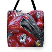 Red 1938 Plymouth Tote Bag