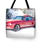 Red 1966 Ford Mustang Shelby Tote Bag