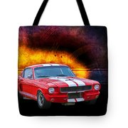 Red 1966 Mustang Fastback Tote Bag