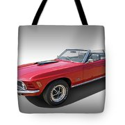Red 1970 Mach 1 Mustang 351 Cleveland Tote Bag