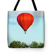 Red Above The Trees Tote Bag