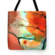 Red Abstract Art - Decadence - Sharon Cummings Tote Bag