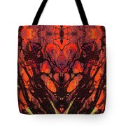 Red Abstract Art - Heart Matters - Sharon Cummings Tote Bag