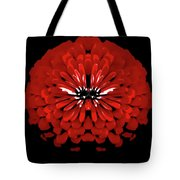 Red Abstract Flower One Tote Bag