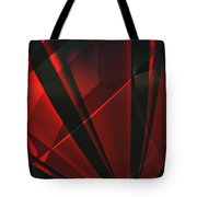 Red Abstractum Tote Bag