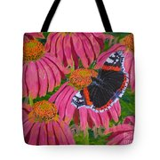 Red Admiral Butterfly Tote Bag