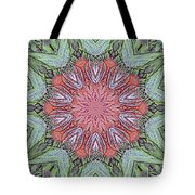 Red Amaryllis Trio Kaleidoscope Tote Bag