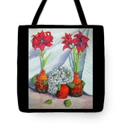 Red Amayrillis Tote Bag