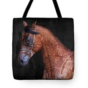 Red Ancient Horse No 01 Tote Bag