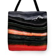 Red And Black Art - Fire Lines - Sharon Cummings Tote Bag