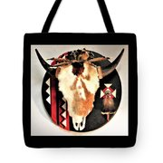 Red And Black Buffalo Design Tote Bag