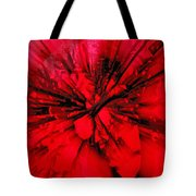 Red And Black Explosion Tote Bag