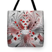 Red And Black -f E- Tote Bag