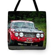 Red And Black Lancia Fulvia Tote Bag