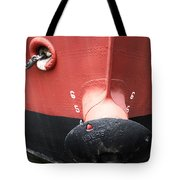 Red And Black Prow Tote Bag