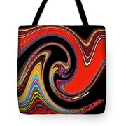Red And Black Stream  Tote Bag
