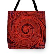 Red And Black Swirl - Modern/contemporary Painting Tote Bag