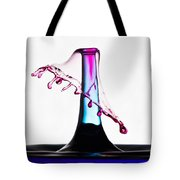 Red And Blue Collision Tote Bag