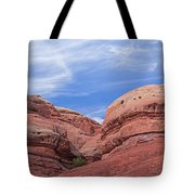 Red And Blue Tote Bag