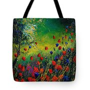 Red And Blue Poppies 67 1524 Tote Bag