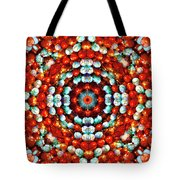 Red And Blue Stones Tote Bag