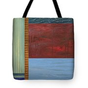 Red And Blue Study Tote Bag by Michelle Calkins